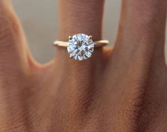 2 carat diamond ring Etsy