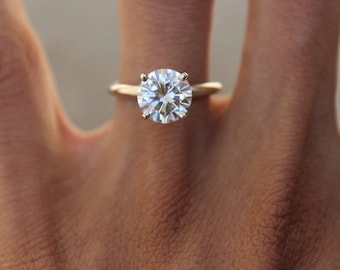 engagement classic carat man low diamond made profile ring ct solitaire