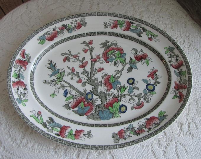 Indian Tree Dinner Platter Johnson Bros. Vintage Dinnerware and Replacements 1979-1982 Greek Key