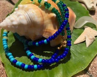 RADIATE wrap bracelet - eco-friendly beaded wrap bracelet; women's beaded wrap bracelet; recycled glass bead bracelet