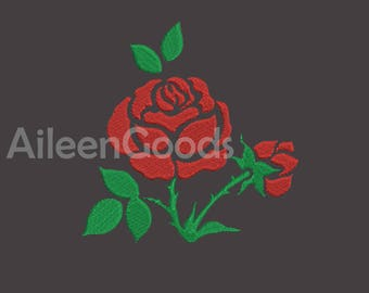 Rose Embroidery  design 7 Size  INSTANT download machine embroidery