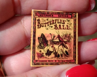 Dolls House 12th Scale  The Butterflys' Ball. Downloadable miniature book.