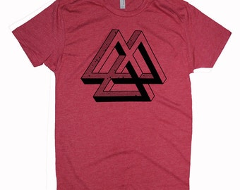 Men's IMPOSSIBLE DREAMS Shirt Psychedelic Math Screen Printed T-Shirt Sacred GeometryClothing