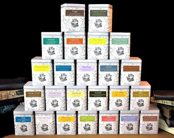 Literary Teas in Gift Tin - Second Edition - Literary Tea Gifts - Literary Gift - Bookish - Author Gift - Bookworm