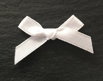 20, satin ribbon bows, white ribbon bows, white satin bows, white ribbon bows, white bows, satin bows, craft supplies uk, bows uk, wedding