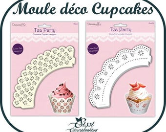 SET OF 12 MOLDS DECORATIVE FOR CUPCAKE MUFFIN BAKING KITCHEN SCRAP DOILY