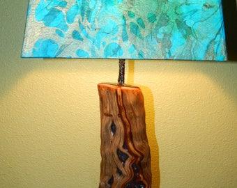 Manzanita Burl Lamp base (Shade is optional)