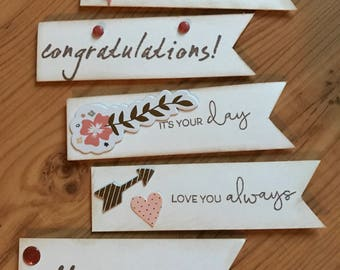 Variety Pack of Greetings for your Greeting Card - Set of 5