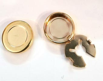 Goldtone Button Covers Set of 10