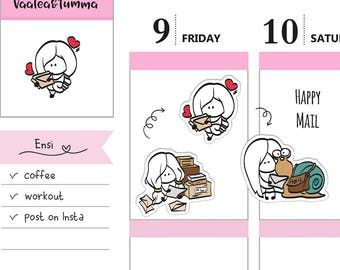 Planner stickers Ensi - Happy Mail, S0081, Erin Condren stickers, Happy planner stickers, cute stickers, mail stickers, snail mail stickers