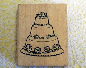 Wood Mounted Rubber Stamp Cake