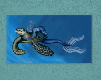 After a long journey Mermaid&Sea Turtle Prints