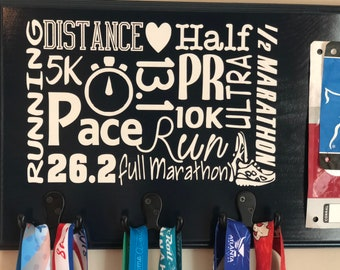Running Medal Holder Race Bib Display, Ready to Ship