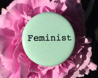 Feminist button / Pastel feminist pin / Feminist magnet / Girl power button