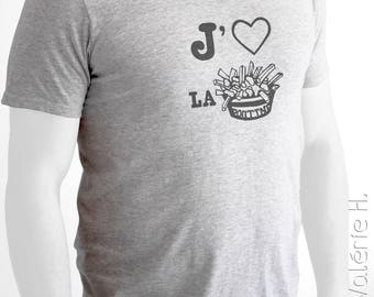 T-Shirt, Semi-Fitted, Print « I Love Poutine »