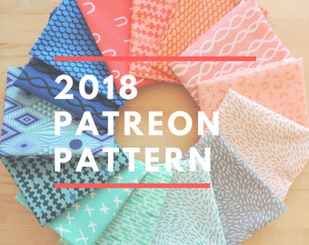 Quilting Jetgirl 2018 Patreon Secret Pattern - A Pattern Digital Download (PDF) by Quilting Jetgirl