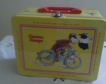 Vintage* Curious George* Tin Keepsake Lunch Box!!!!