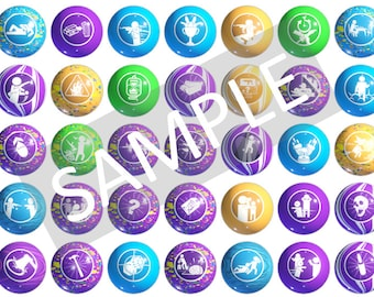 GobbleGum Labels Call of Duty Perks Instant Download Gobble Gum Stickers