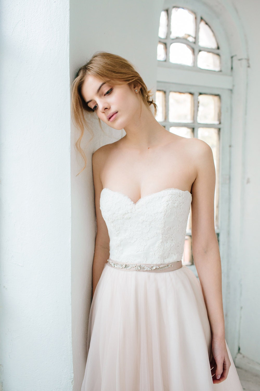 Korsett Hochzeit Kleid //Dahlia / herzförmiger Ausschnitt
