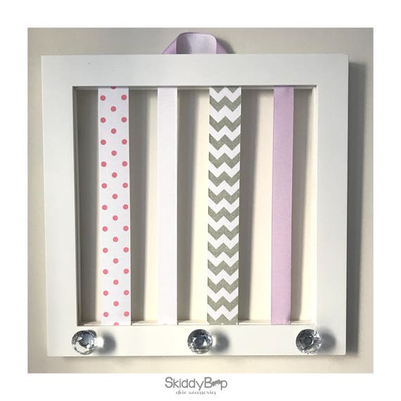 White Frame Bow Holder