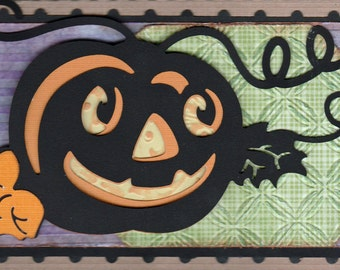 Handmade Vintage looking Halloween card