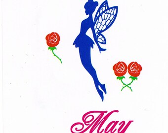 Small Rose Flower Floral Fairy Faerie Queen May Clear Cling Stamp Set