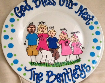 Hand Painted Family Plate