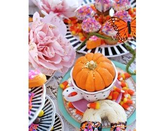 Fanciful Fall Tea Party - 5 Postcard Set