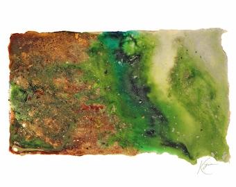 South Dakota Topography Print