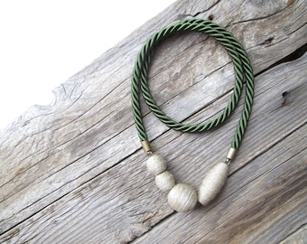 Green rope necklace Sailor necklace