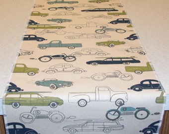 11 x 36 Inch Vehicles Theme Table Runner