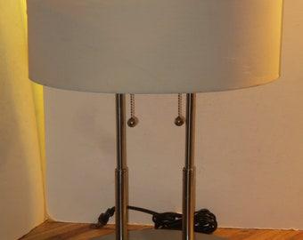 Eames Nelson Kovacs Era Mid Century Modern Chrome Table Lamp