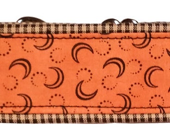 Fall Pumpkin and Plaid Martingale Collar-