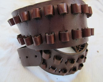 Durapouch 80 munitions ceinture en cuir / patiné vintage ceinture de munitions / Funky ceinture maquillage / ceinture de balle