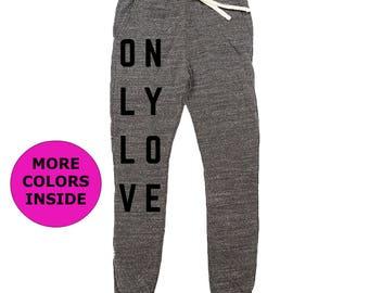 Organic Cotton Women's Joggers   Recycled Clothing   Eco Friendly Sweatpants   Joggers   Organic Clothing   Boho Pants   Yoga Pants