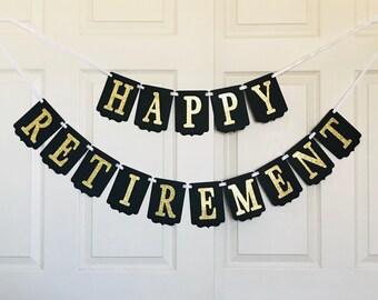 Happy Retirement Banner- Retirement Party Decoration