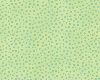 By The HALF YARD - Artisan Spirit Good Vibrations, #20446-71 Tealessence by Deborah Edwards Northcott Studio, Aqua Dots on Green, Blender