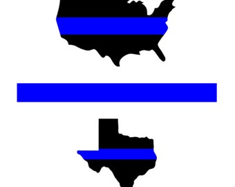 Back the Blue Decal (Any State, US, or Line)