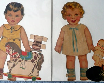 Six Little Brothers, Little Sisters Paper Dolls