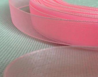 Pink Colour 50 Metres Woven Edge Organza Ribbon