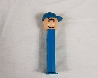 Charlie Brown Blue PEZ Dispenser 1950,1966 US Patent 4.966.305, Made In Slovenia peanuts collectible