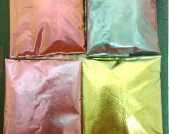 mica powder, chameleon powder art,color change pigment,fine powder,nail polish powder, pearl pigment flip flop, resin craft, coatings, green