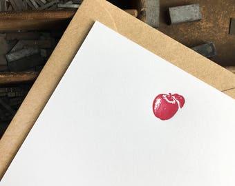 Apple Of My Eye Letterpress Notes