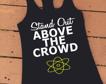 Stand Out Above the Crowd | Powerline Goofy Movie Inspired Women's Ideal Racerback Tank | Goofy Movie Shirt | Powerline Tank Top