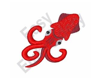 Squid - Machine Embroidery Design