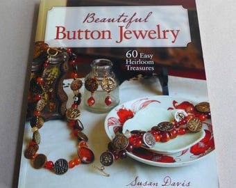 Beautiful Button Jewelry by Susan Davis, Make Jewelry With Beads and Buttons, Gift for Jewelry Designer