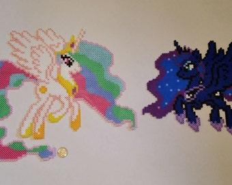 Princess Celestia & Luna Perlers