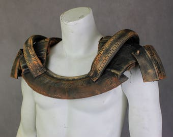 Post Apocalyptic Armor - Tire Breastplate Wasteland Armor - LARP Party Costume - Fallout Wearable Prop