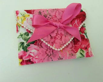Gift card envelope, gift card wallet, gift wrapping, fabric wallet, fabric envelope