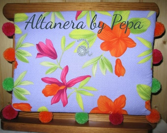 Boho style Clutch with floral pattern. Tropical""